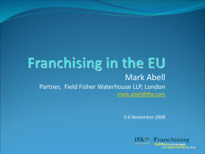 Mark Abell Partner,  Field Fisher Waterhouse LLP, London  5-6 November 2008