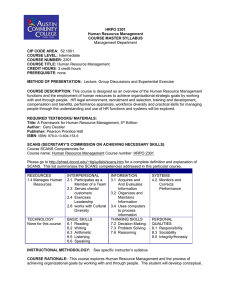 HRPO 2301 Human Resource Management COURSE MASTER SYLLABUS