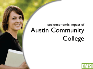 Austin Community College socioeconomic impact of