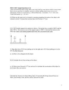 PHYS 1405  Sample Questions (1-4)