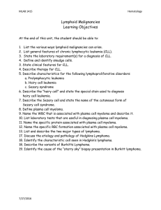 Lymphoid Malignancies Learning Objectives