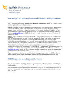 Individual Professional Development Funds