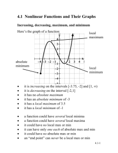 4.1  Nonlinear Functions and Their Graphs y x