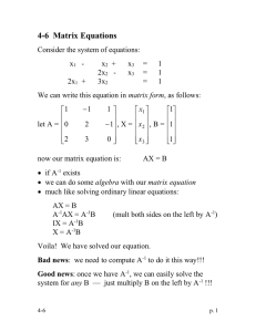 4-6  Matrix Equations