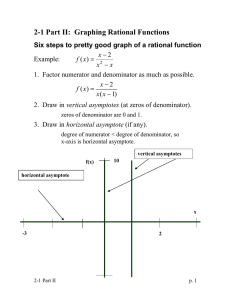 2-1 Part II:  Graphing Rational Functions