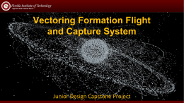 Vectoring Formation Flight and Capture System Junior Design Capstone Project