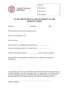STAFF PROFESSIONAL DEVELOPMENT FUNDS REQUEST FORM