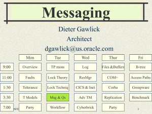 Messaging Dieter Gawlick Architect