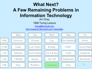 What Next? A Few Remaining Problems in Information Technology Jim Gray,