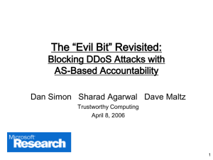 "The ""Evil Bit"" Revisited: Blocking DDoS Attacks with AS-Based Accountability"