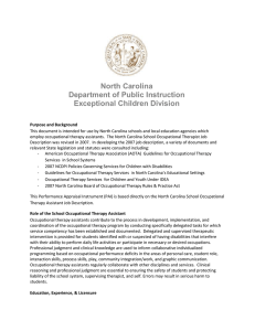 North Carolina Department of Public Instruction Exceptional Children Division