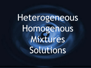 Heterogeneous Homogenous Mixtures Solutions