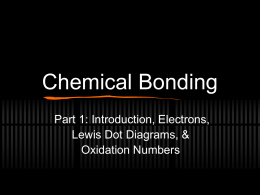 Chemical Bonding Part 1: Introduction, Electrons, Lewis Dot Diagrams, & Oxidation Numbers
