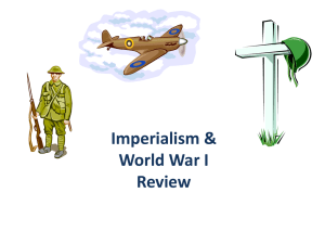 Imperialism & World War I Review