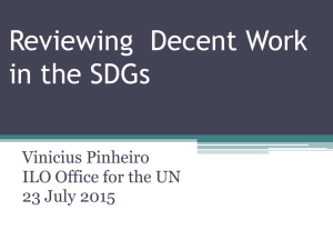 Reviewing  Decent Work in the SDGs Vinicius Pinheiro
