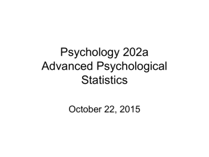 Psychology 202a Advanced Psychological Statistics October 22, 2015