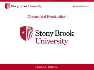 Decennial Evaluation Charles L. Robbins NOVEMBER 2012