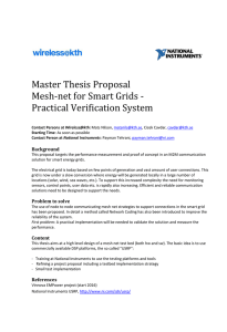 Master Thesis Proposal Mesh-net for Smart Grids - Practical Verification System