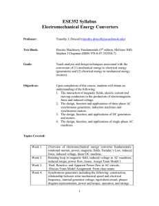 ESE352 Syllabus Electromechanical Energy Converters