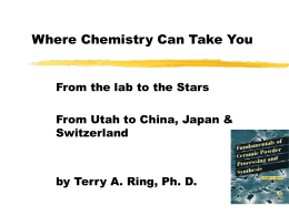 Where Chemistry Can Take You From the lab to the Stars Switzerland