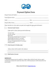 Payment Option Form