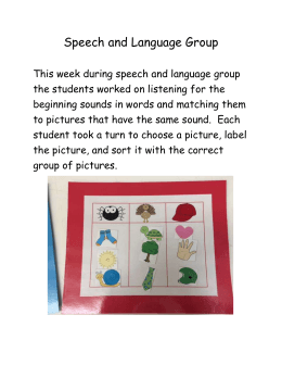 Speech and Language Group