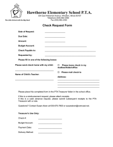 Hawthorne Elementary School P.T.A. Check Request Form