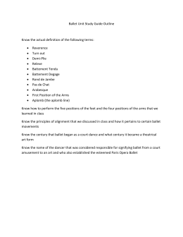 Ballet Unit Study Guide Outline  Reverence