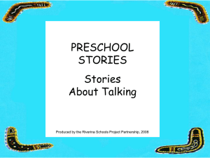 PRESCHOOL STORIES Stories About Talking