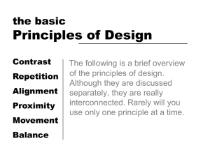 Principles of Design the basic