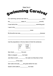 Stage Two: A Our swimming carnival was held on_____________________(day)