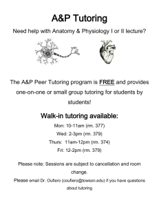 A&P Tutoring
