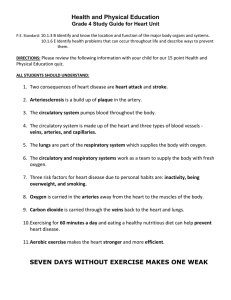 Health and Physical Education Grade 4 Study Guide for Heart Unit