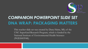 COMPANION POWERPOINT SLIDE SET DNA WRAP: PACKAGING MATTERS