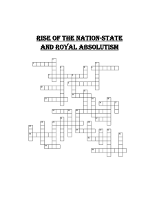 Rise of the Nation-State And Royal absolutism