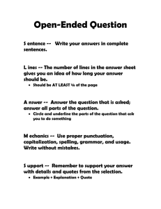 Open-Ended Question