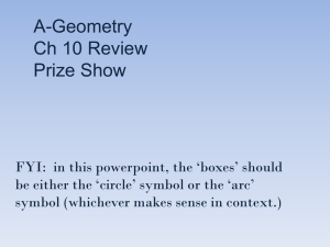 A-Geometry Ch 10 Review Prize Show