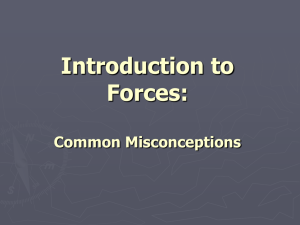 Introduction to Forces: Common Misconceptions