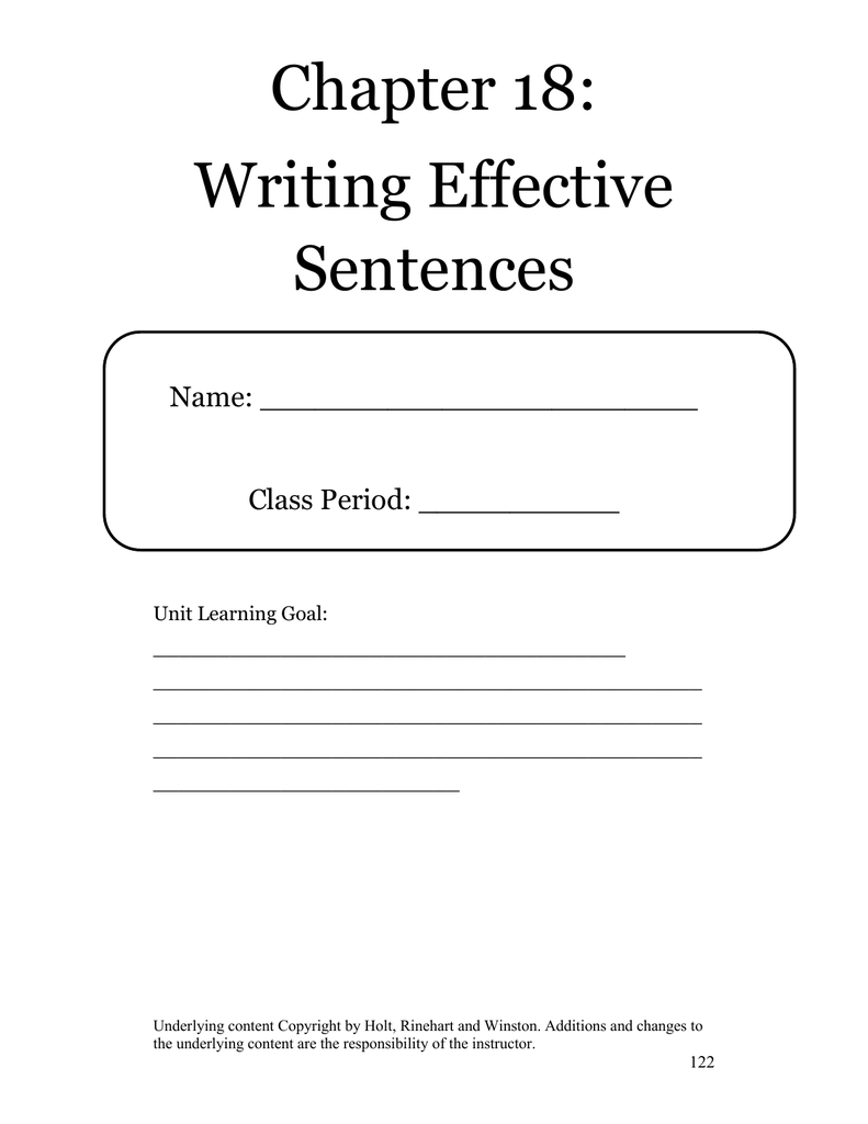 worksheet Run On Sentences And Fragments Worksheet chapter 18 writing effective sentences