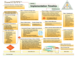Implementation Timeline Executive Sponsor, Guiding Coalition