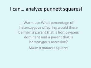 I can… analyze punnett squares!