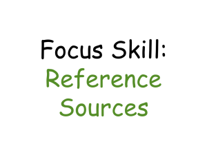 Focus Skill: Reference Sources