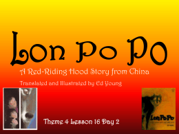 A Red-Riding Hood Story from China