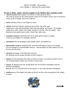 SOCIAL STUDIES – Review Sheet