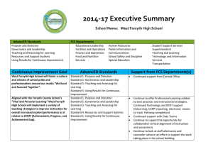 2014-17 Executive Summary School Name:   West Forsyth High School