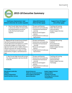 2015-18 Executive Summary  Continuous Improvement  Goal AdvancED Standards