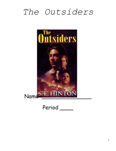 The Outsiders  Name  _______________ Period ____