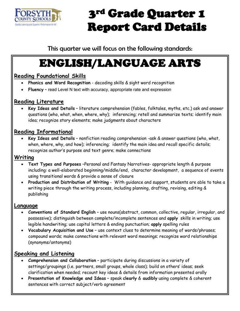 Th Grade Language Arts Key Ideas