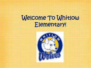 Welcome To Whitlow Elementary!