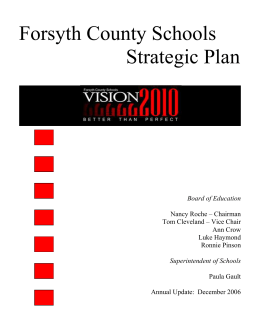Forsyth County Schools Strategic Plan